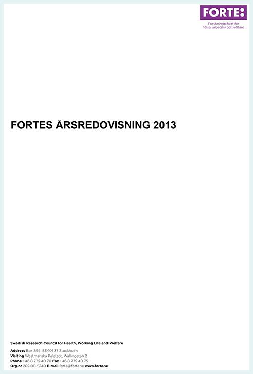 Fortes årsredovisning 2013