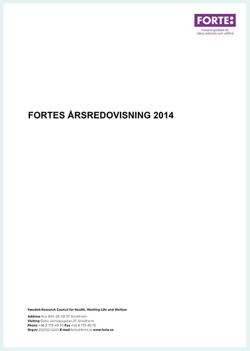 Fortes årsredovisning 2014