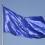 EU:s flagga som vajar i vinden
