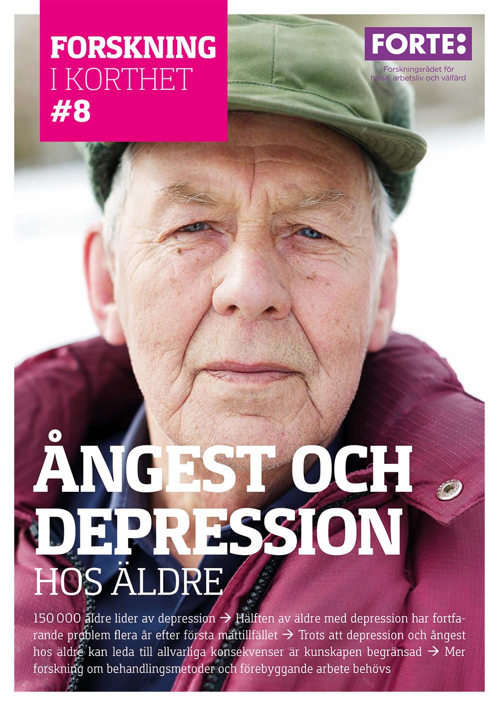 Forskning i korthet: Ångest och depression hos äldre