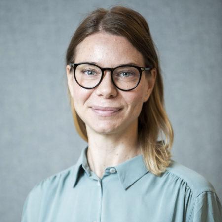 Porträttfoto på Stella Jacobson, forskningssekreterare