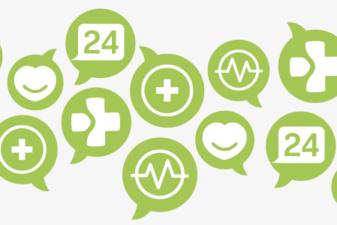 Ett kluster av ikoner som symboliserar sjukvård