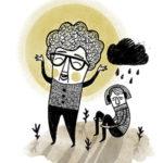 Glad pensionär och en deprimerad ungdom