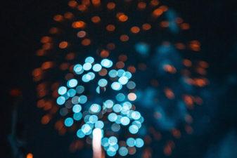 Foto på abstrakta ljussken