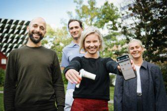 Pristagarna bakom Athenapriset, från vänster: Björn Nordlund, Anna Carleborg, Henrik Ljungberg och Marthine Isachsen.