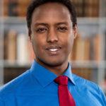 Porträttfoto på Ahmed Abdirahman, grundare och VD för The Global VIllage