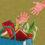 illustration av en hand som sträcker sig efter en hand som kommer upp ur en överfull kasse