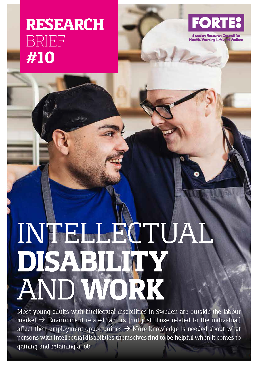 Research brief: Intellectual disability and work