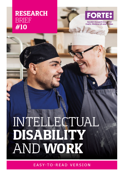 Research brief: Intellectual disability and work (easy-to-read version)