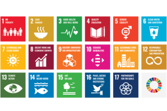 Icons representing the 17 sustainable development goals