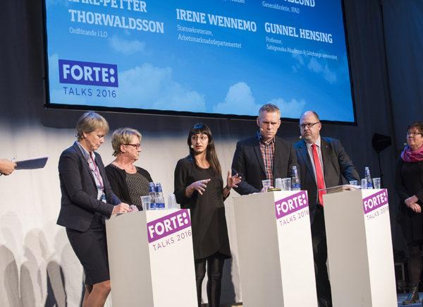"""Paneldiskussion, """"Ett arbetsliv för alla"""", Forte Talks 2016"""