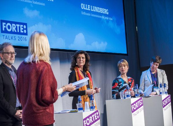 """Paneldiskussion """"Jämlik hälsa och välfärd"""", Forte Talks 2016"""