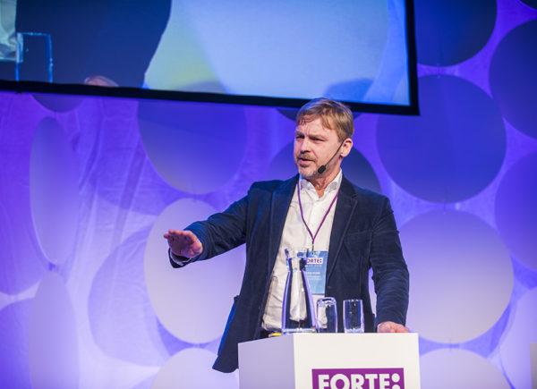 Joakim Palme presenterar på Forte Talks 2019