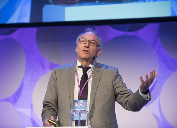 Johannes Siegrist presenterar på Forte Talks 2019